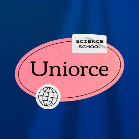 School Ad with Globe Illustration Logo – шаблон для дизайну