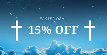 Easter Offer with Crosses in Heaven