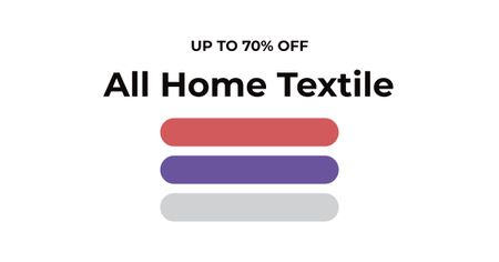 Modèle de visuel Textile towels offer colorful lines - Facebook AD
