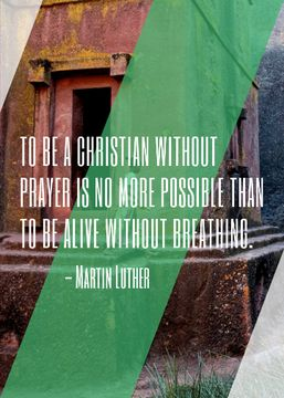 Christian Religion Quote on Church background