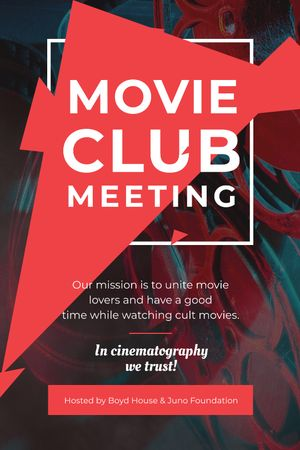 Template di design Movie Club Meeting Vintage Projector Tumblr