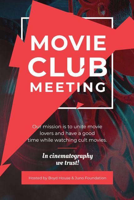 Movie Club Meeting Vintage Projector Tumblr Design Template