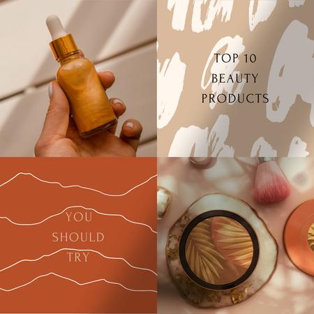 Natural Beauty Products Ad Instagram – шаблон для дизайну