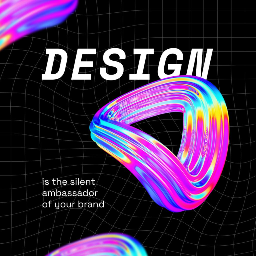 Web Design ad with Abstract Gradient Circles Instagram Design Template