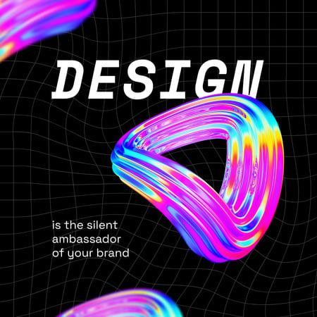 Web Design ad with Abstract Gradient Circles Instagram Modelo de Design