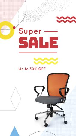 Plantilla de diseño de Furniture Offer Office Chair Instagram Story