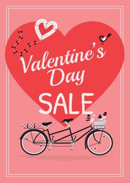 Valentine's day sale with Romantic bike