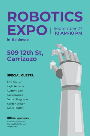 Template di design Robotics expo in Baltimore Pinterest
