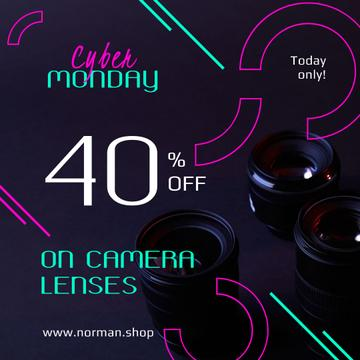 Cyber Monday Sale Camera Lenses in Black