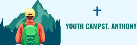 Plantilla de diseño de Youth religion camp of St. Anthony Church Email header