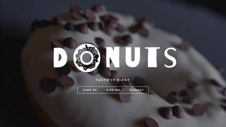 Modèle de visuel Sweet glazed doughnut - Full HD video
