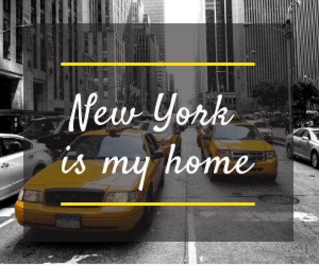 Designvorlage Taxi Cars in New York für Medium Rectangle