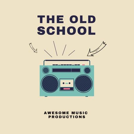 Old School Inspiration with Vintage Boombox Instagram Design Template