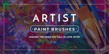 Artist paint brushes store banner