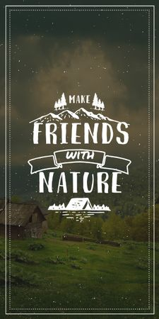 Nature Quote Scenic Mountain View Graphic Tasarım Şablonu