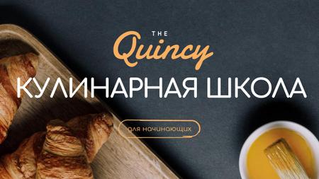 Baking School Ad Fresh Hot Croissants Youtube Thumbnail – шаблон для дизайна