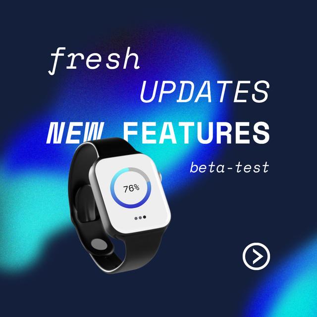 Modèle de visuel Smart Watches New Features Updates - Instagram