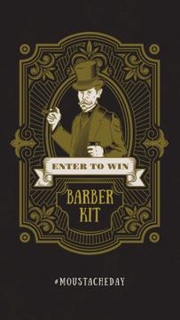 Barbershop Ad Vintage Bearded Barber