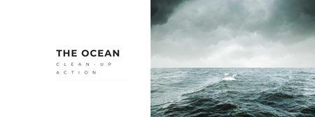 Plantilla de diseño de Ocean Cleanup Event Announcement Facebook cover