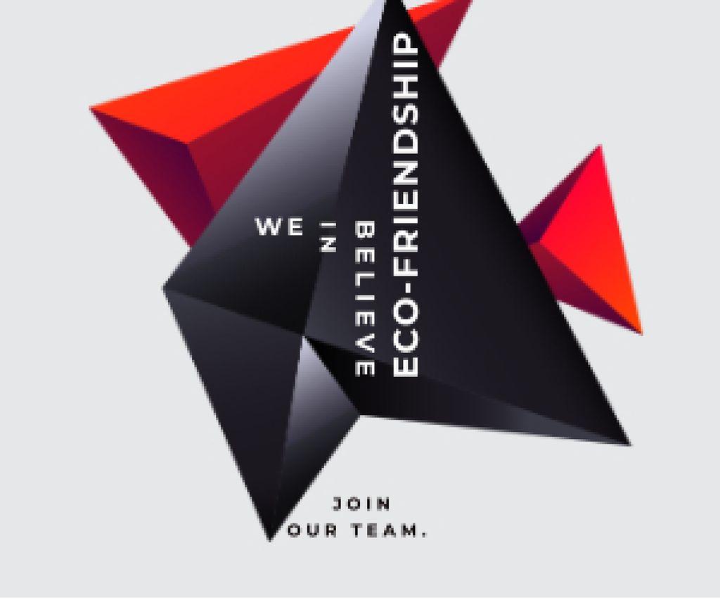 Eco-friendship concept Medium Rectangle – шаблон для дизайна