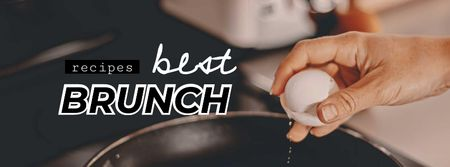 Template di design Fried Eggs for Late Brunch Facebook cover