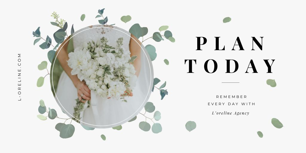 Bride with bouquet for Wedding Agency ad — Create a Design