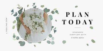 Bride with bouquet for Wedding Agency ad