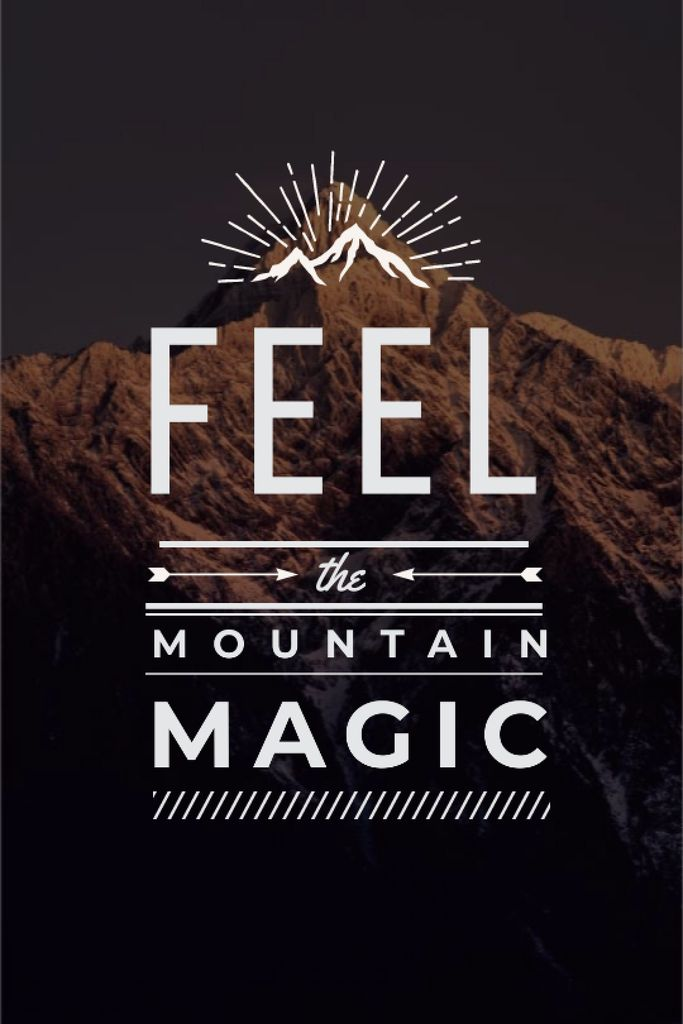 Nature inspiration with scenic Mountain peak — ein Design erstellen