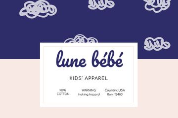Kids Clothes brand ad on clouds pattern