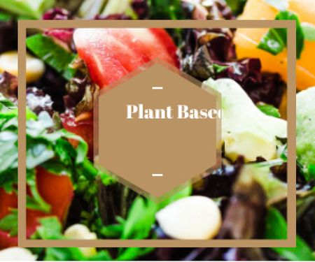 Template di design plant based diet background Medium Rectangle