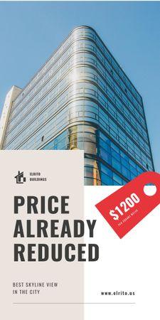Ontwerpsjabloon van Graphic van Real Estate Offer with Modern Glass Building