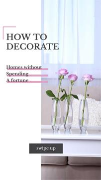 Home Decor ad with Roses in Vases