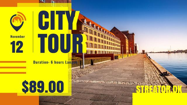 Modèle de visuel City Tour promotion with Quay View - FB event cover