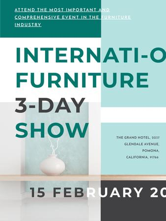 Furniture Show announcement Vase for home decor Poster US – шаблон для дизайна