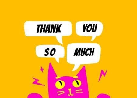 thanku Card Modelo de Design