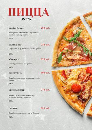 Italian Pizza pieces Menu – шаблон для дизайна
