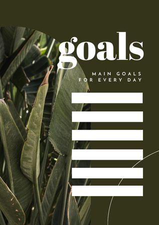 Modèle de visuel Daily Goals Planning with Tropical Leaves - Schedule Planner