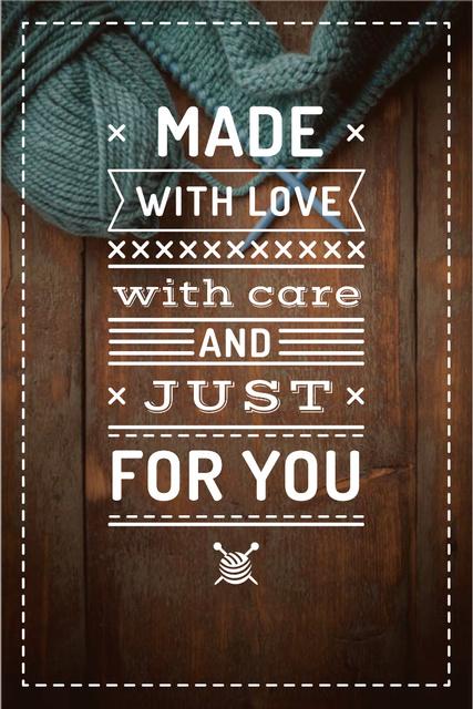 Handmade workshop with yarn Pinterest – шаблон для дизайну
