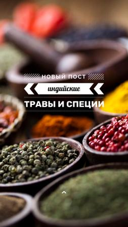 Tips for using Spices with peppers Instagram Story – шаблон для дизайна