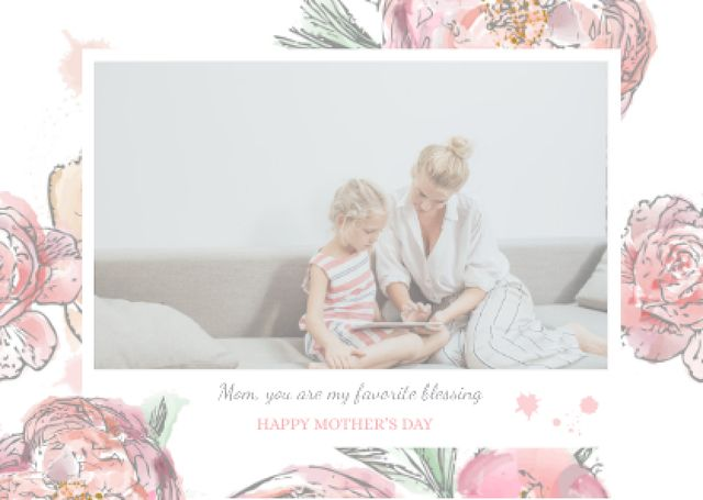 Happy Mother's Day postcard Postcardデザインテンプレート