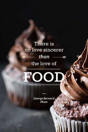 Delicious chocolate Cupcakes Tumblr – шаблон для дизайну