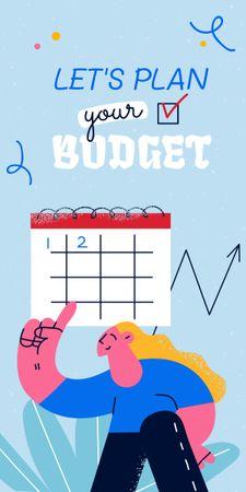 Ontwerpsjabloon van Graphic van Girl planning Financial Budget