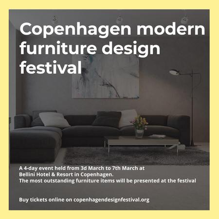 Modern Furniture Design Festival Instagram Design Template