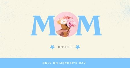 Flowers Delivery Offer on Mother's Day Facebook AD Design Template