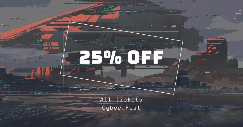 Cyber Fest Tickets Offer — Create a Design