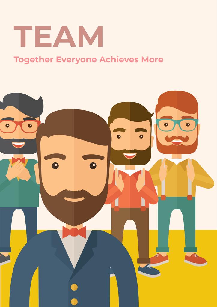 Plantilla de diseño de Citation about a business team Poster