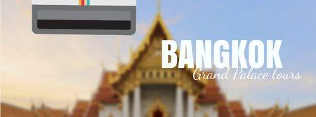 Visit Famous authentic Bangkok Facebook Video cover Design Template