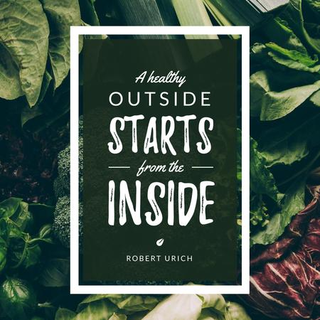 Template di design Quote with Fresh Vegetables background Instagram