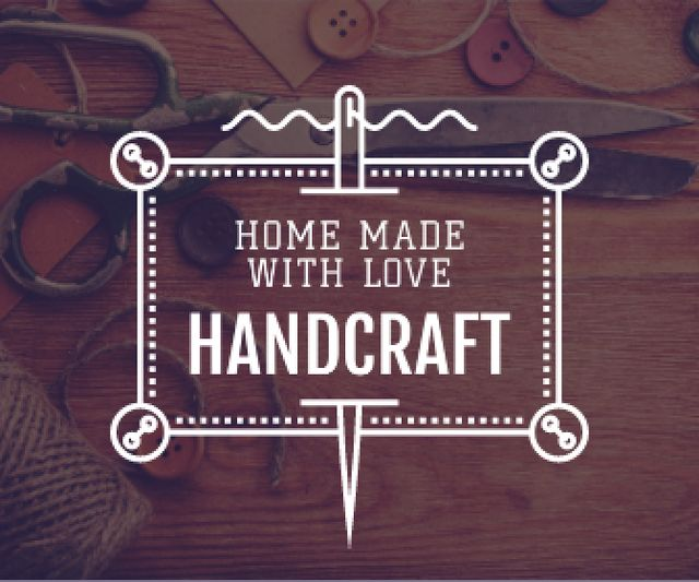 Plantilla de diseño de advertisement poster for store of handcrafted goods  Large Rectangle