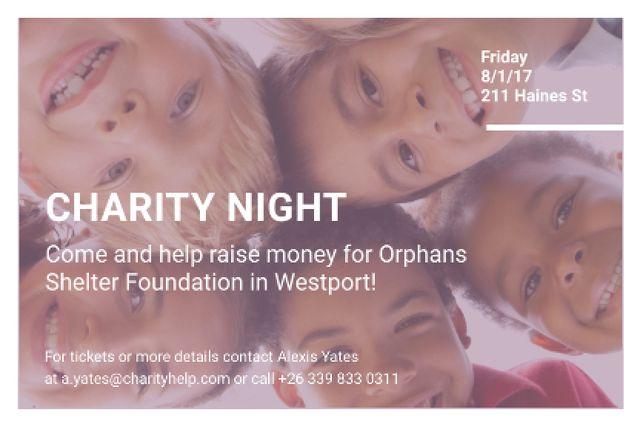 Plantilla de diseño de Corporate Charity Night Gift Certificate